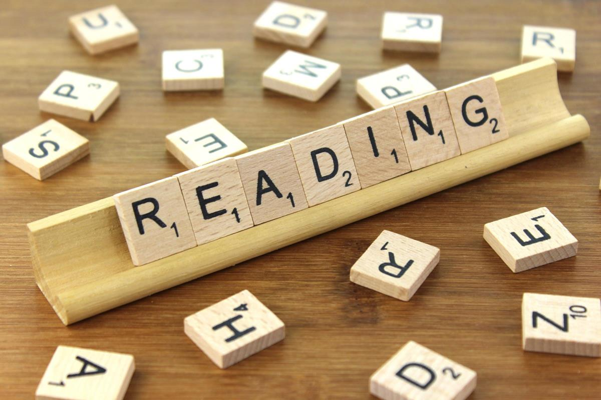 Scrabble blocks that spells reading